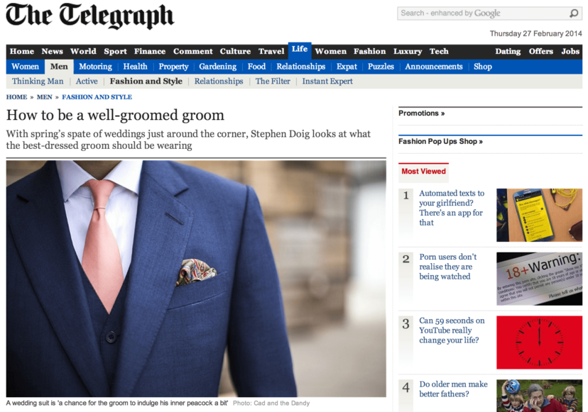 cad and the dandy in the telegraph newspaper