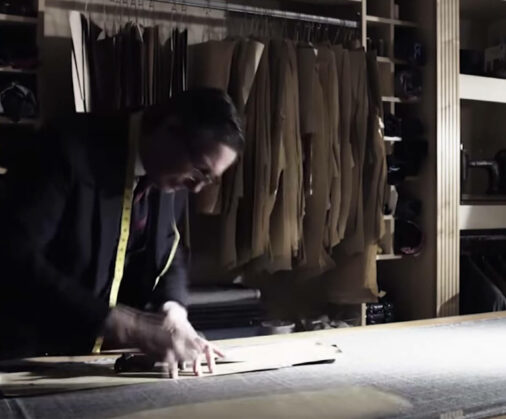 cad and the dandy making a bespoke suit