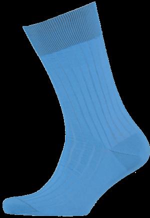 Cad & The Dandy Cotton Ribbed Sky Blue Socks