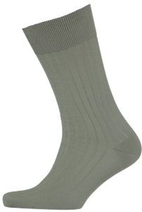Cad & The Dandy Cotton Ribbed Olive Green Socks