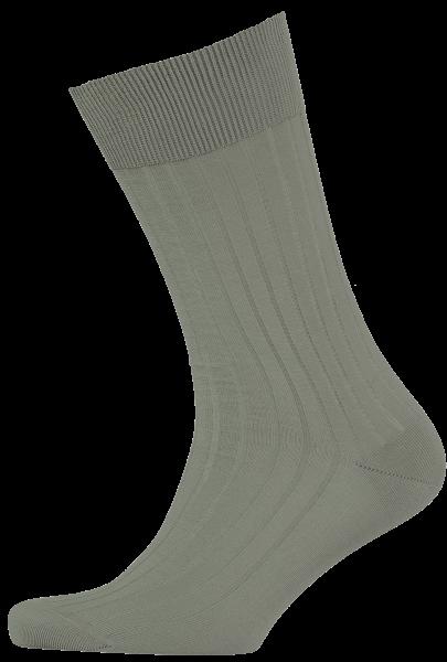 menswear-socks-cotton-ribbed-olive-green-1