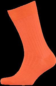 Cad & The Dandy Cotton Ribbed Orange Socks