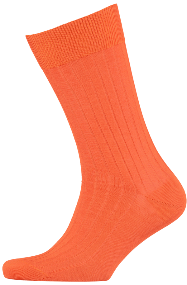 menswear-socks-cotton-ribbed-orange-1
