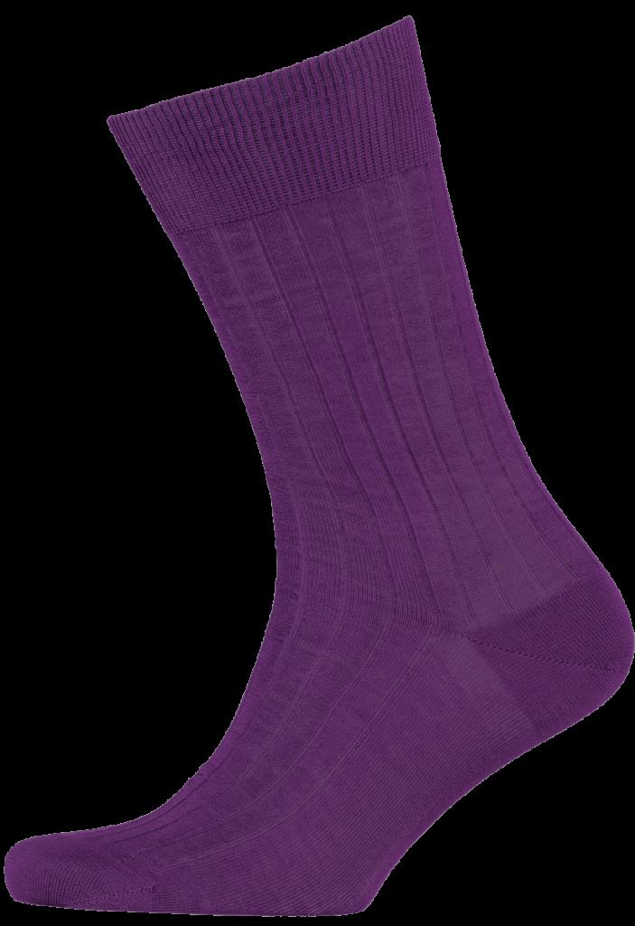 Cad & The Dandy Cotton Ribbed Purple Socks