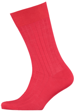 Cad & The Dandy Cotton Ribbed Red Socks