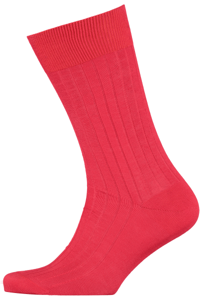 menswear-socks-cotton-ribbed-red-1