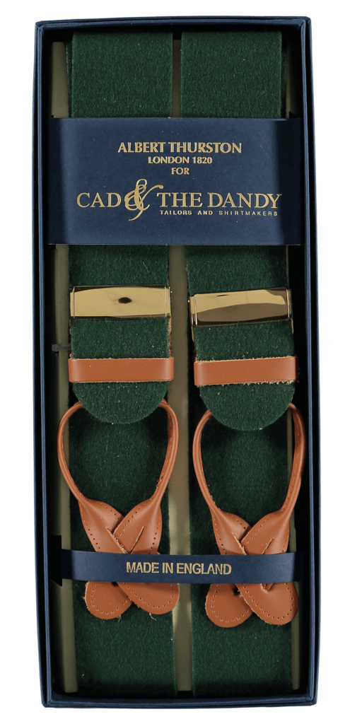 Cad & The Dandy Albert Thurston Green & Tan Braces