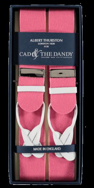Cad & The Dandy Albert Thurston Pink & White Braces