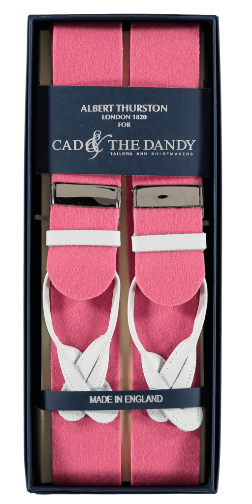 Cad & The Dandy Albert Thurston Pink & White Braces