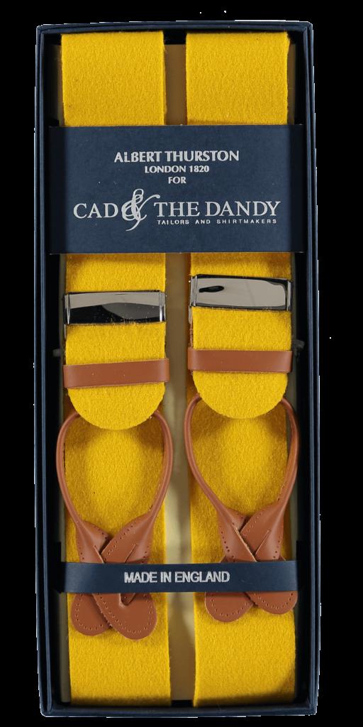 Cad & The Dandy Albert Thurston Yellow & Tan Braces