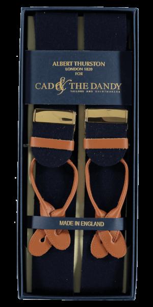 Cad & The Dandy Albert Thurston Black & Black Braces