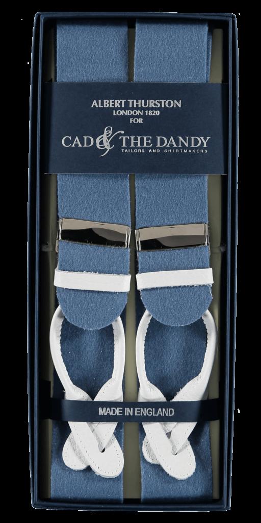 Cad & The Dandy Albert Thurston Saxe Blue & Yellow Braces