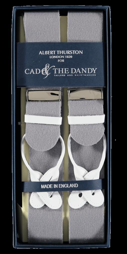 Cad & The Dandy Albert Thurston Grey & White Braces