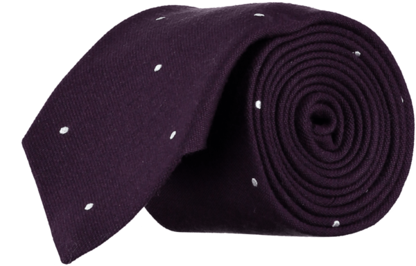 menswear-accessories-tie-wool-silk-plum-white-spots-1
