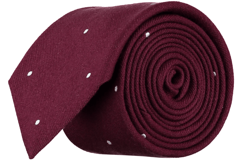 Cad & The Dandy Wool and Silk Spotted Tie