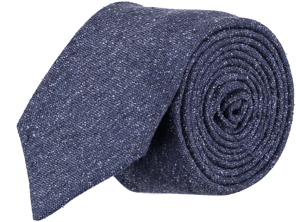 Cad & The Dandy Silk Textured Tie in Indigo
