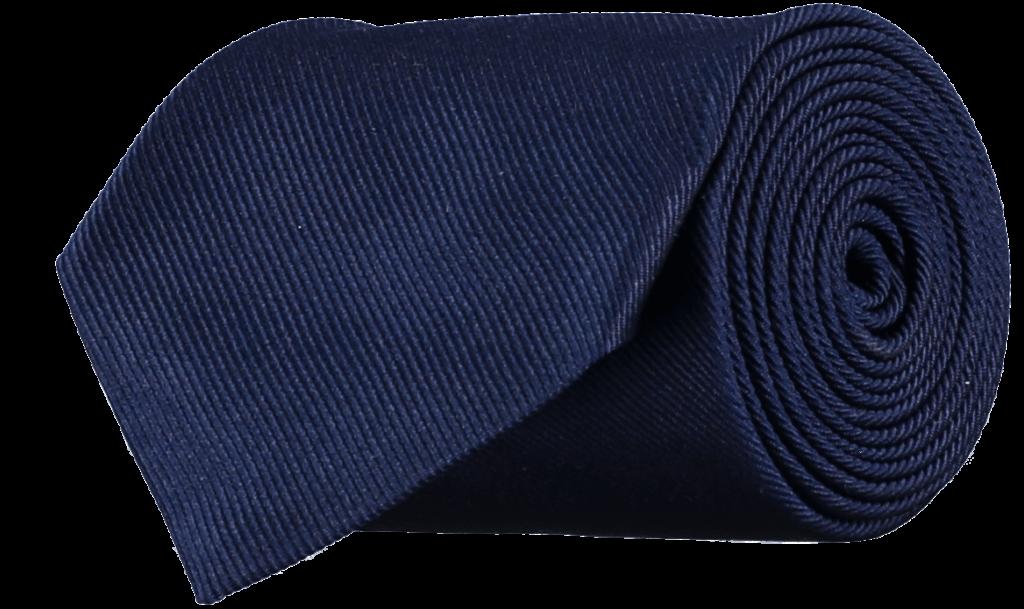 Cad & The Dandy Silk Repp Tie in Navy