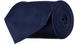 Cad & The Dandy Silk Repp Tie in Navy