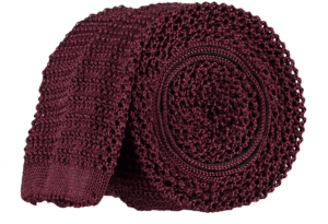Cad & The Dandy Unlined Knitted Tie in Claret