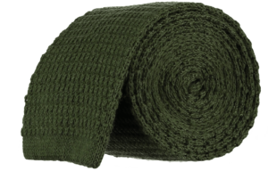 Cad & The Dandy Knitted Tie in Olive Green