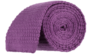 Cad & The Dandy Knitted Tie in Dark Lilac