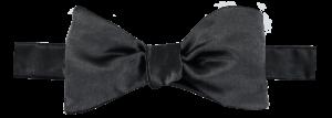 Cad & The Dandy Self Tie Black Satin Bow Tie