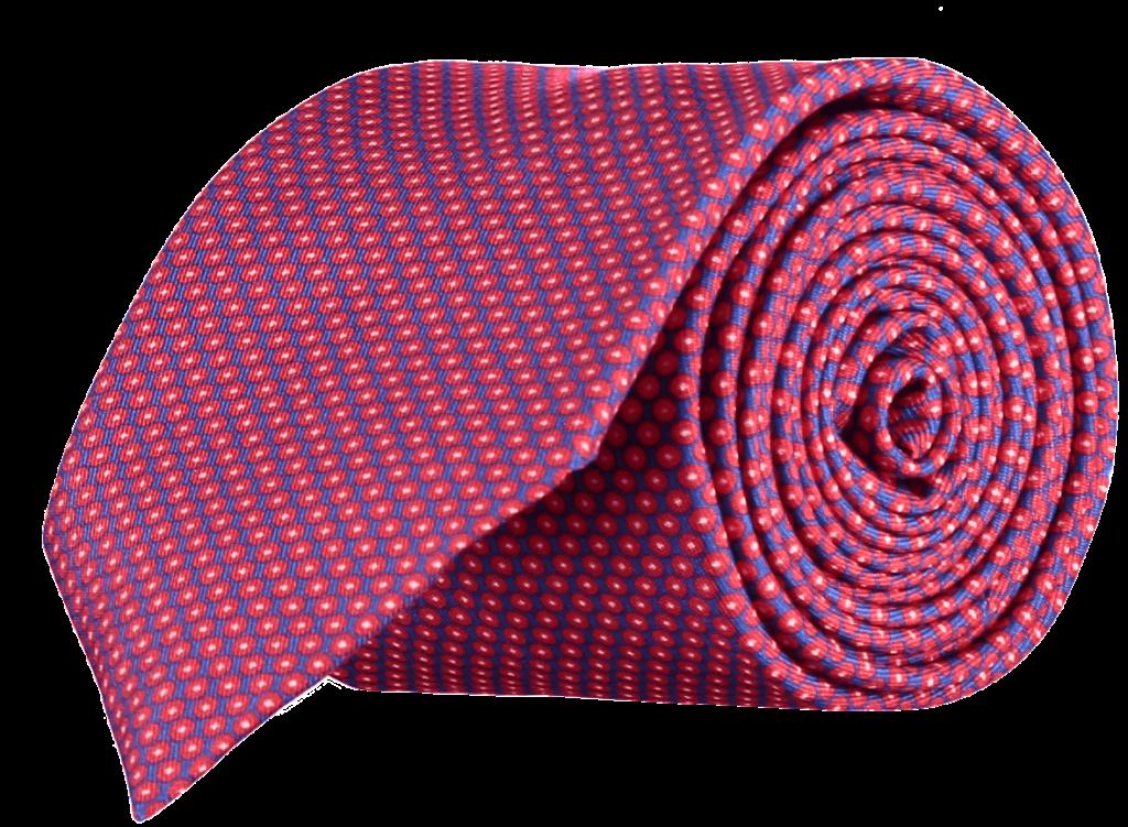geometric-spot-silk-tie-blue-red-yellow