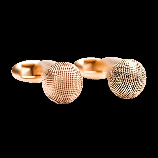 cufflink-gold-textured-ball-front