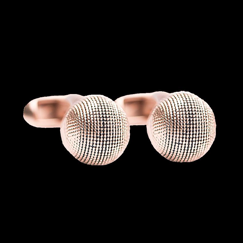 cufflink-rose-gold-textured-ball-front