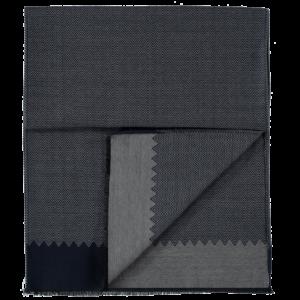 wool-scarf-herringbone-grey-blue-detail