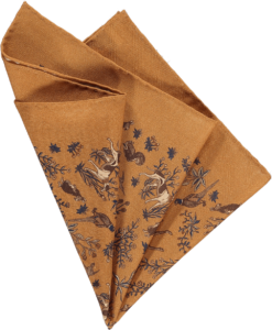 gold-fauna-pocket-square