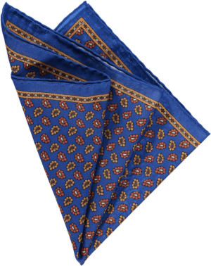 pocket-square-in-blue-floral-design