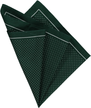 cotton-pocket-square-greenwhite-pin-spot