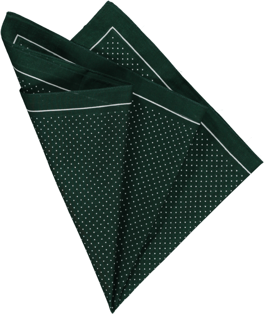 cotton-pocket-square-greenwhite-pin-spot