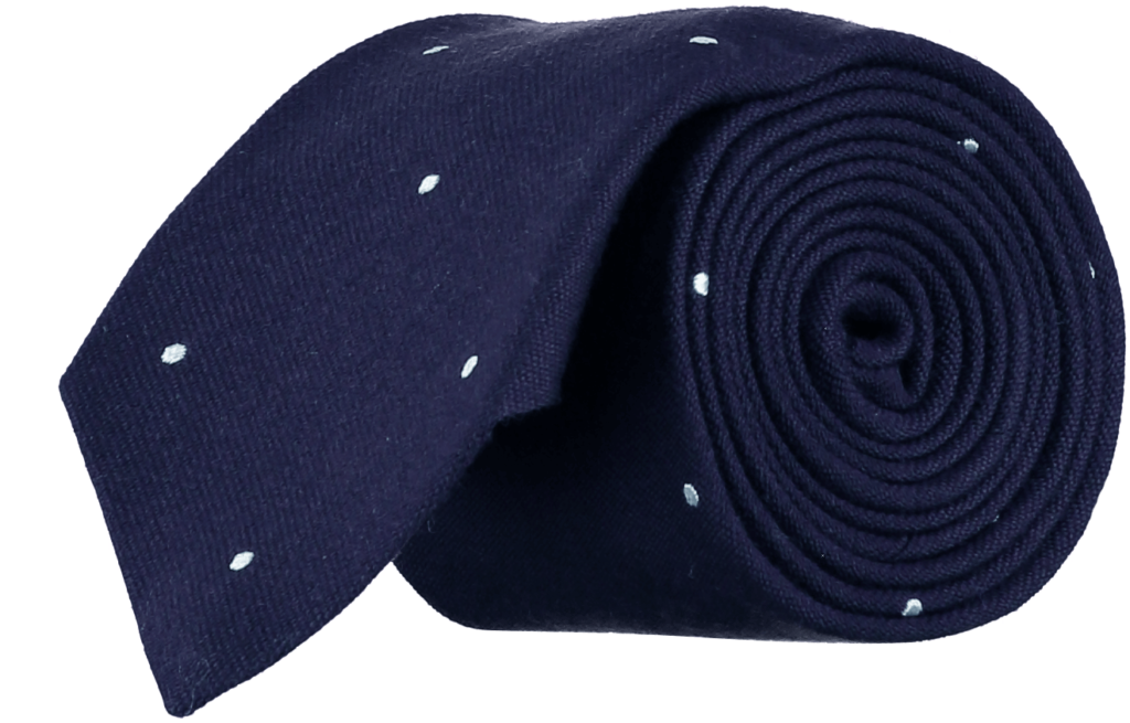 wool-silk-tie-navy-white-spots