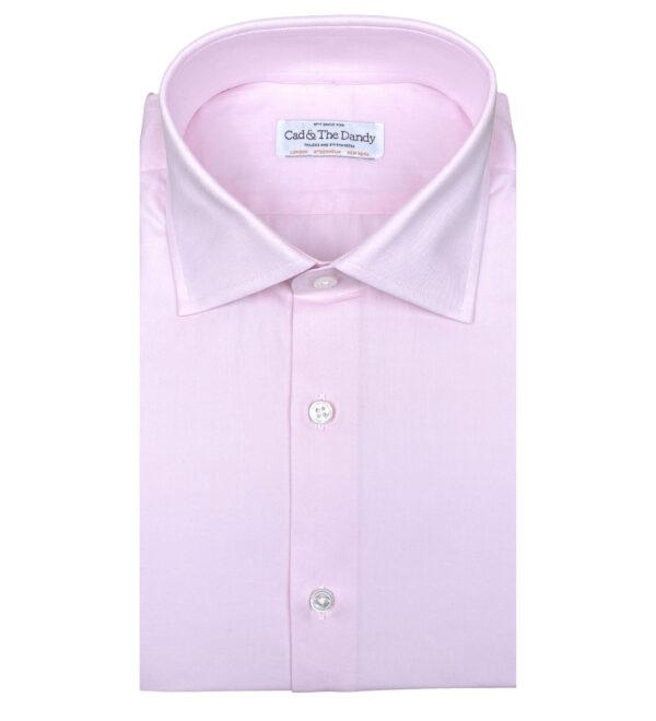 Pink Slim Fit Cotton Shirt