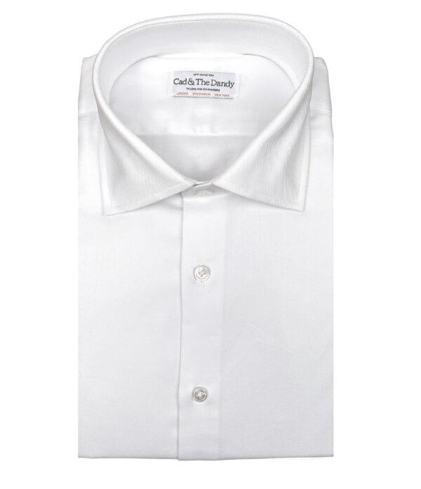 White Slim Fit Cotton Shirt