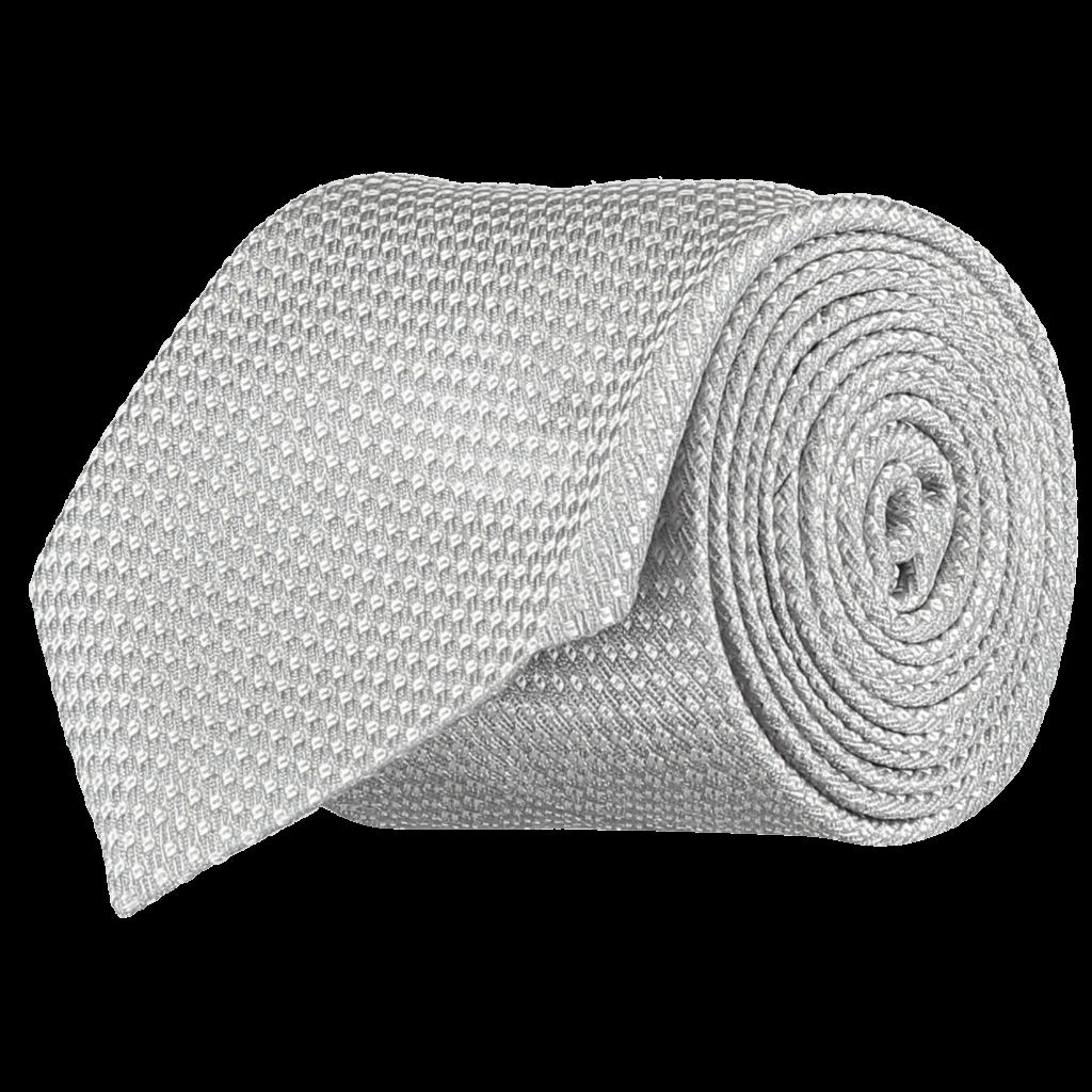 Italian-Silk-Tie-Silver-0097-Rolled