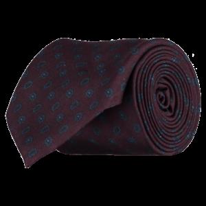 Italian-Silk-Patterned-Tie-0087-Rolled