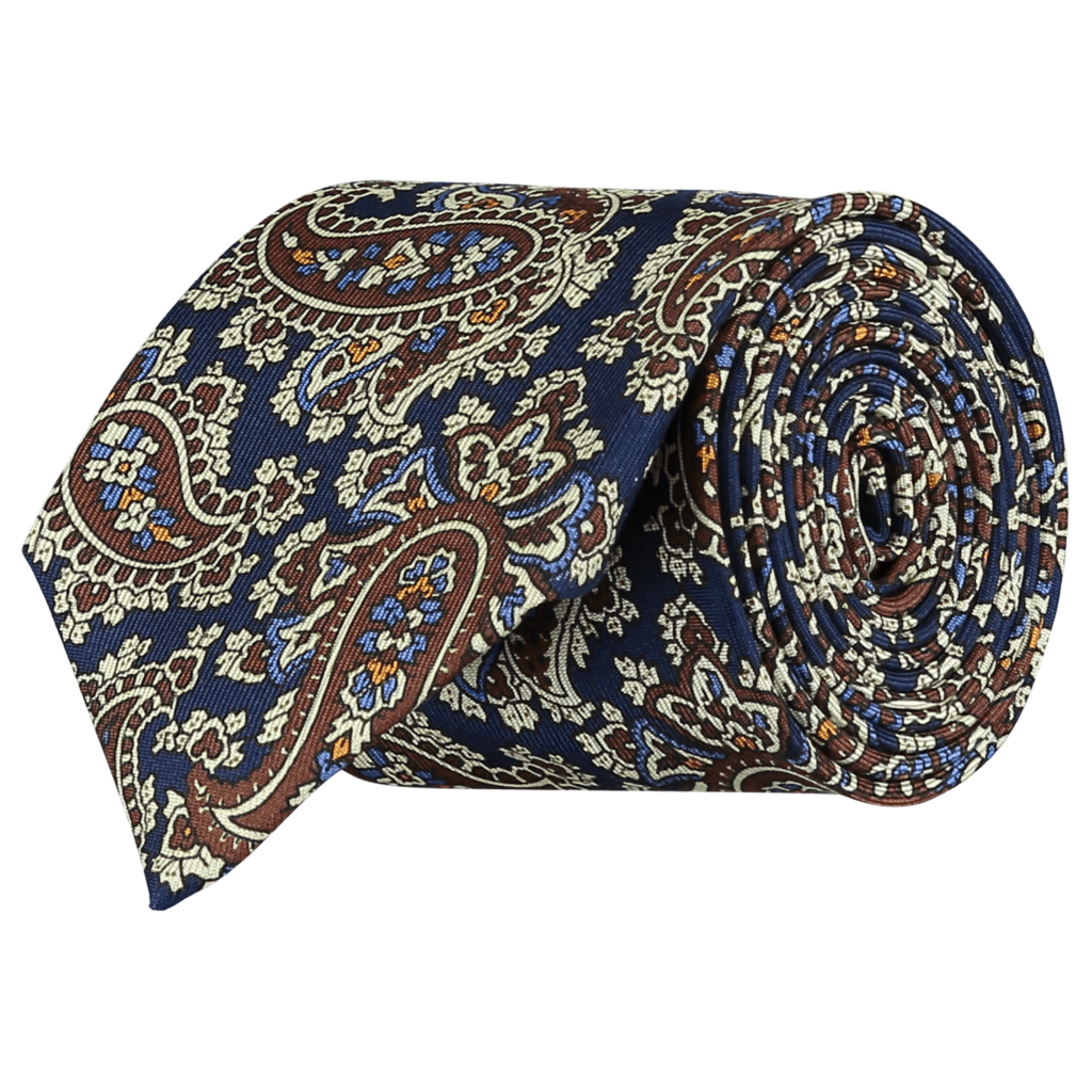 Silk-Paisley-Tie-LTDED-0001-Rolled
