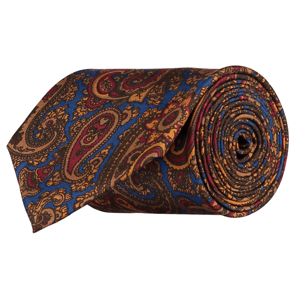 Silk-Paisley-Tie-LTDED-0004-Rolled