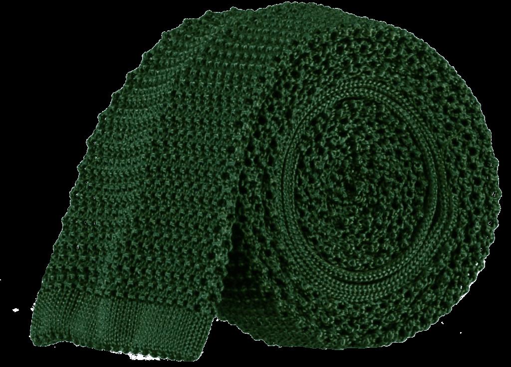 tubular-knitted-tie-bottle-green
