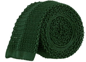 tubular-knitted-tie-bottle-green