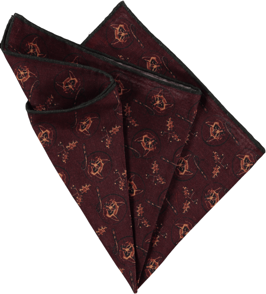 silk-pocket-square-foxes-chianti-folded