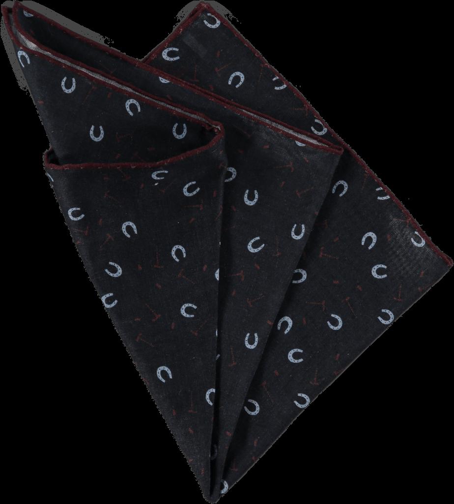 horseshoe-pocket-square-navy-folded