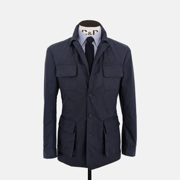 Navy Wax Jacket