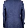 Blue Linen Heringbone Safari Jacket Back