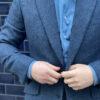 Delft Blue Tweed Jacket