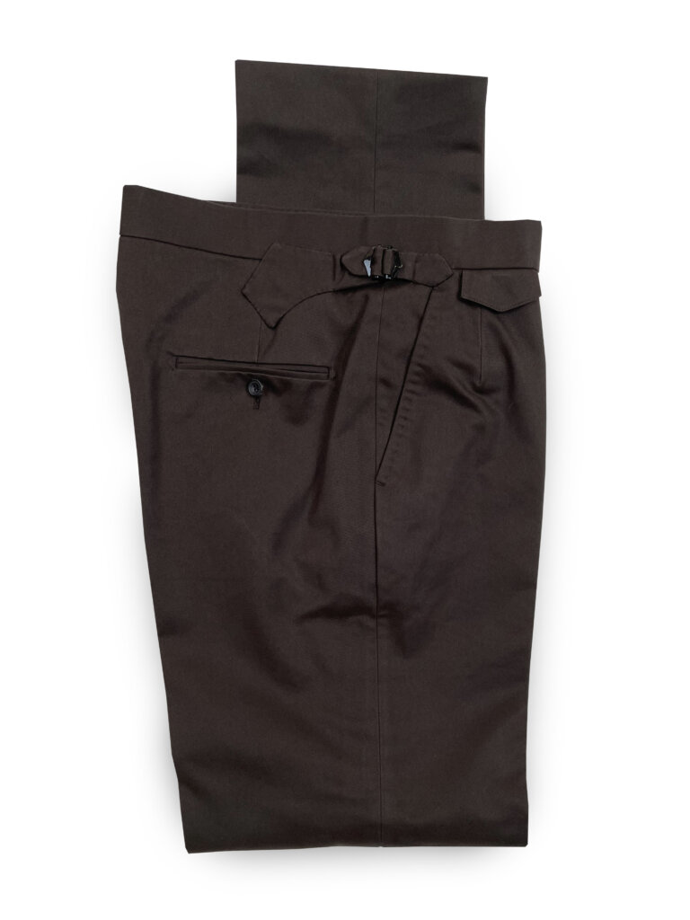 Cotton Trousers - Dark Brown