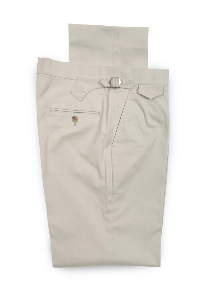 Cotton Mix Trouser - Cream